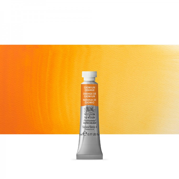 Winsor & Newton : Professional Watercolour Paint : 5ml : Cadmium Orange