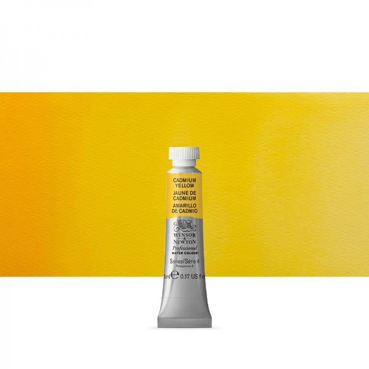 Winsor & Newton : Professional Watercolour Paint : 5ml : Cadmium Yellow