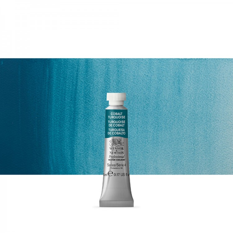 Winsor & Newton : Professional Watercolour Paint : 5ml : Cobalt Turquoise