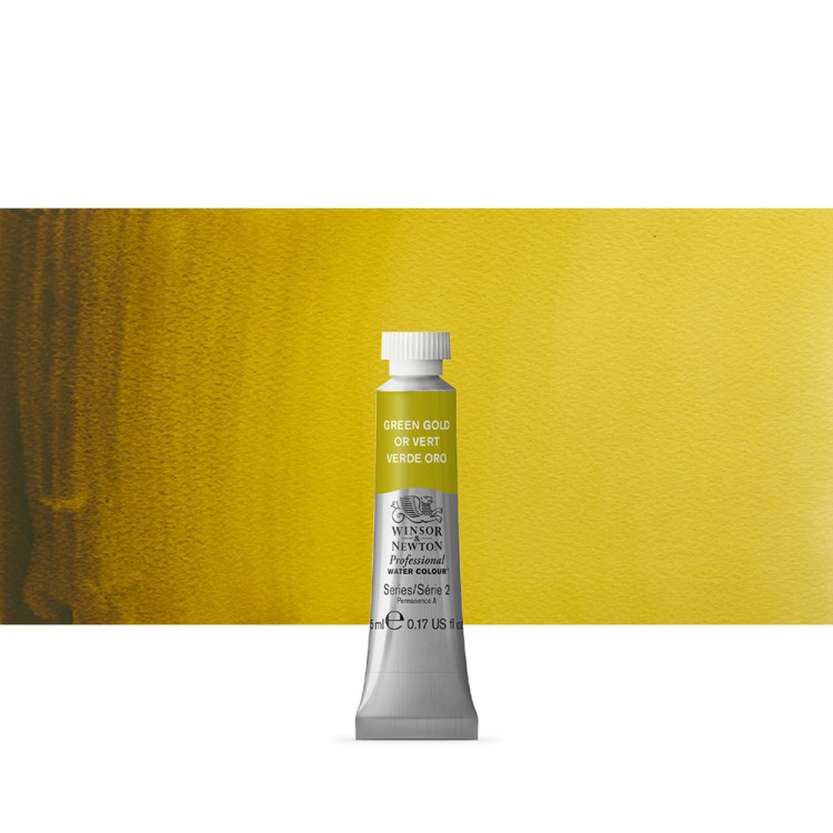 Winsor & Newton : Professional Watercolour Paint : 5ml : Green Gold