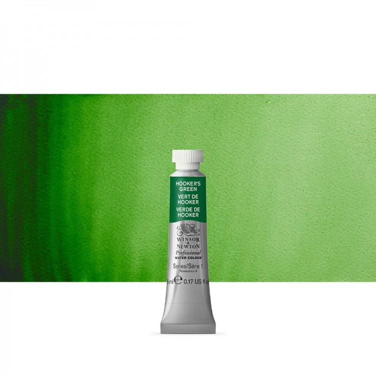 Winsor & Newton : Professional Watercolour Paint : 5ml : Hookers Green