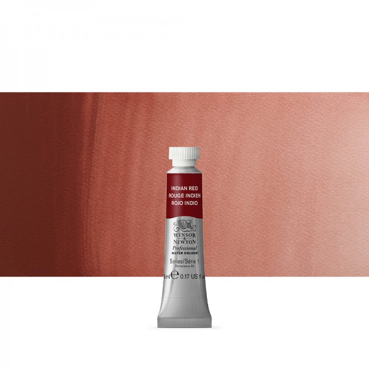 Winsor & Newton : Professional Watercolour Paint : 5ml : Indian Red