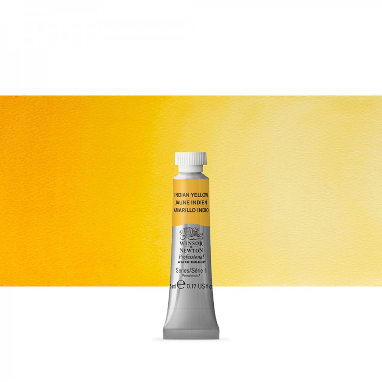 Winsor & Newton : Professional Watercolour Paint : 5ml : Indian Yellow