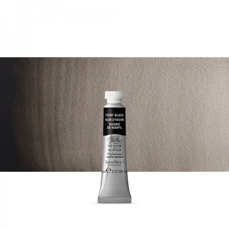 Winsor & Newton : Professional Watercolour Paint : 5ml : Ivory Black