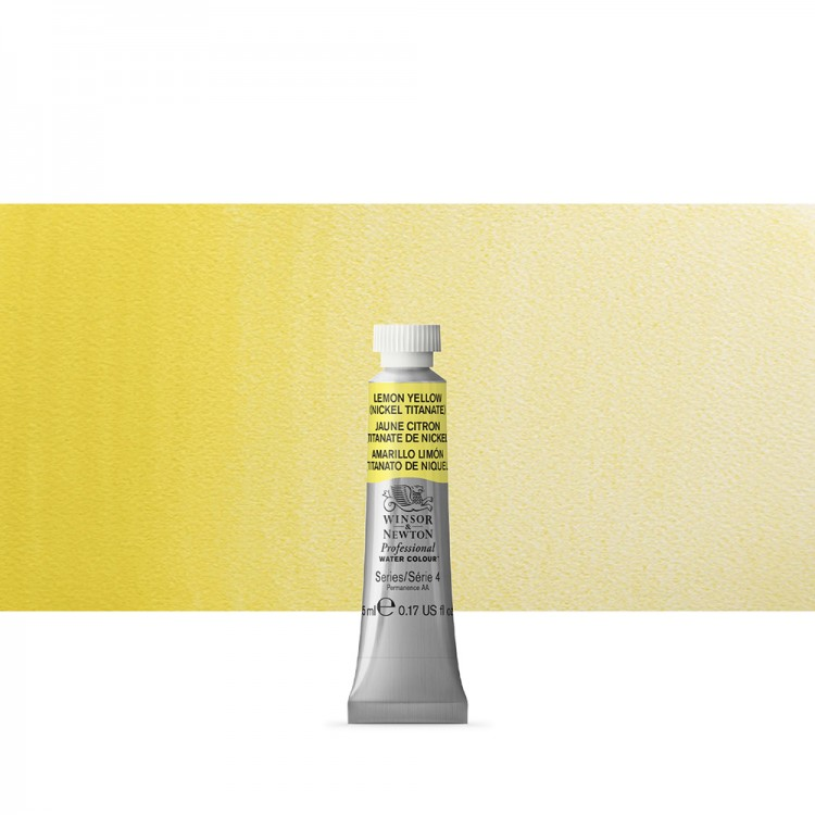 Winsor & Newton : Professional Watercolour Paint : 5ml : Lemon Yellow