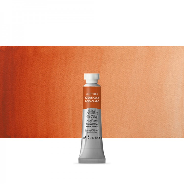 Winsor & Newton : Professional Watercolour Paint : 5ml : Light Red