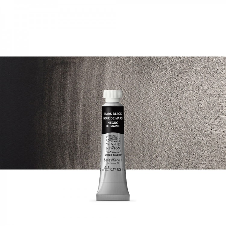 Winsor & Newton : Professional Watercolour Paint : 5ml : Mars Black