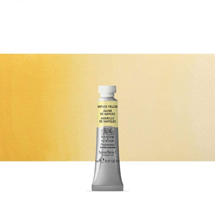 Winsor & Newton : Professional Watercolour Paint : 5ml : Naples Yellow