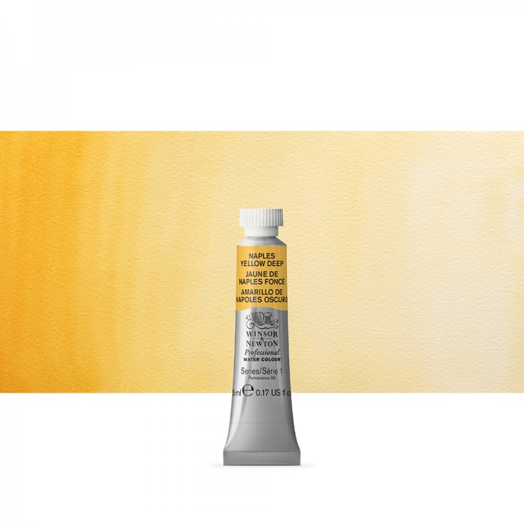 Winsor & Newton : Professional Watercolour Paint : 5ml : Naples Yellow Deep