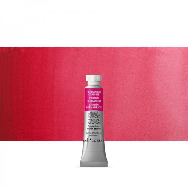 Winsor & Newton : Professional Watercolour Paint : 5ml : Permanent Carmine