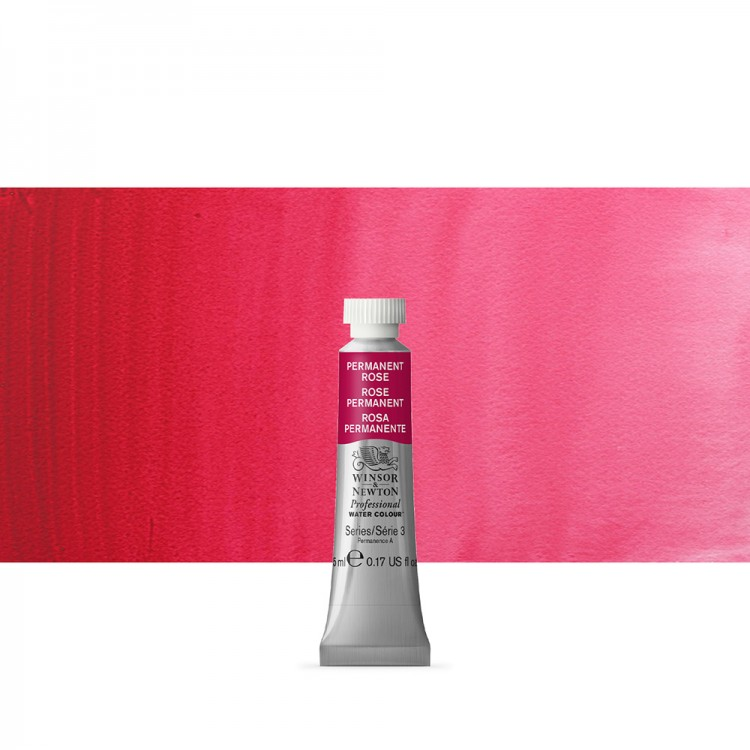 Winsor & Newton : Professional Watercolour Paint : 5ml : Permanent Rose
