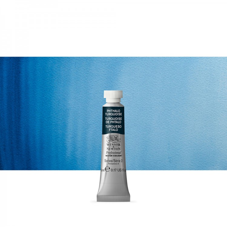 Winsor & Newton : Professional Watercolour Paint : 5ml : Phthalo Turquoise