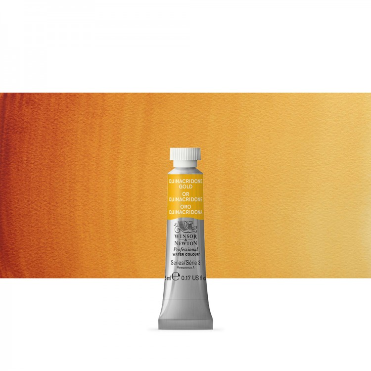 Winsor & Newton : Professional Watercolour Paint : 5ml : Quinacridone Gold