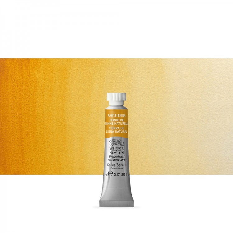 Winsor & Newton : Professional Watercolour Paint : 5ml : Raw Sienna