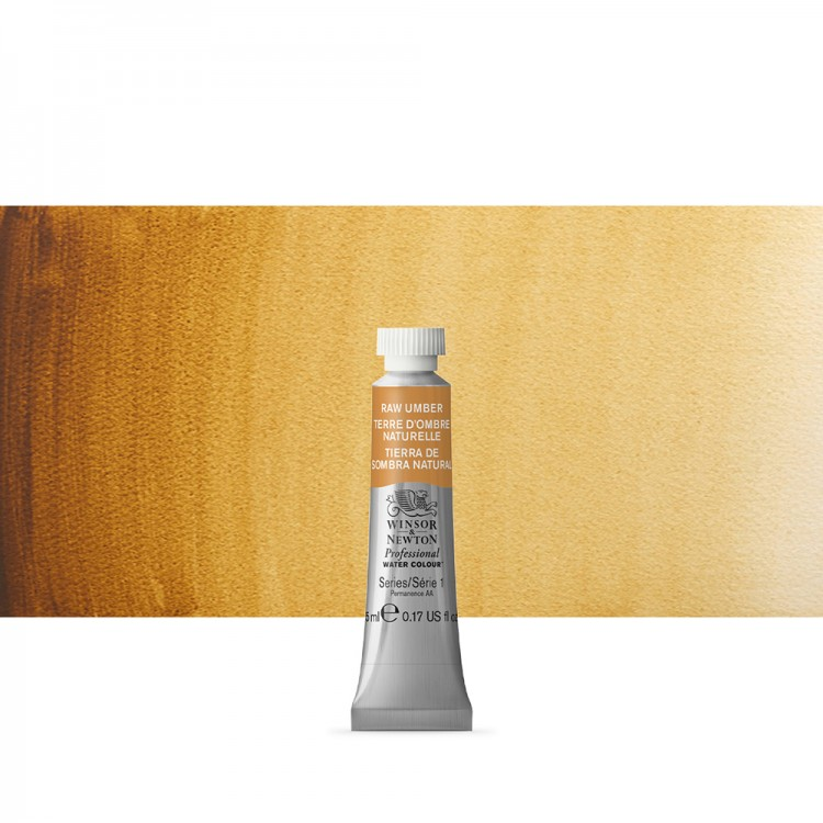 Winsor & Newton : Professional Watercolour Paint : 5ml : Raw Umber