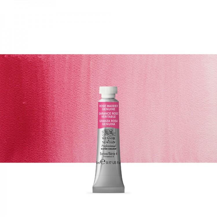 Winsor & Newton : Professional Watercolour Paint : 5ml : Rose Madder Genuine