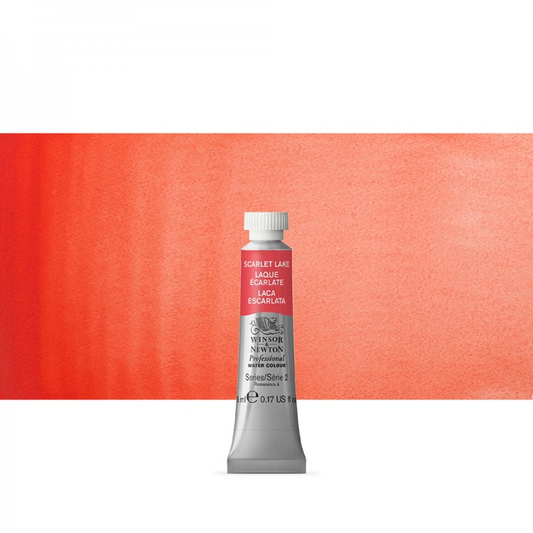Winsor & Newton : Professional Watercolour Paint : 5ml : Scarlet Lake