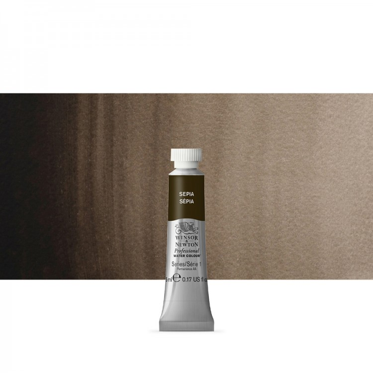 Winsor & Newton : Professional Watercolour Paint : 5ml : Sepia