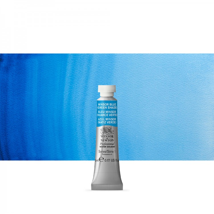 Winsor & Newton : Professional Watercolour Paint : 5ml : Winsor Blue (Green Shade)