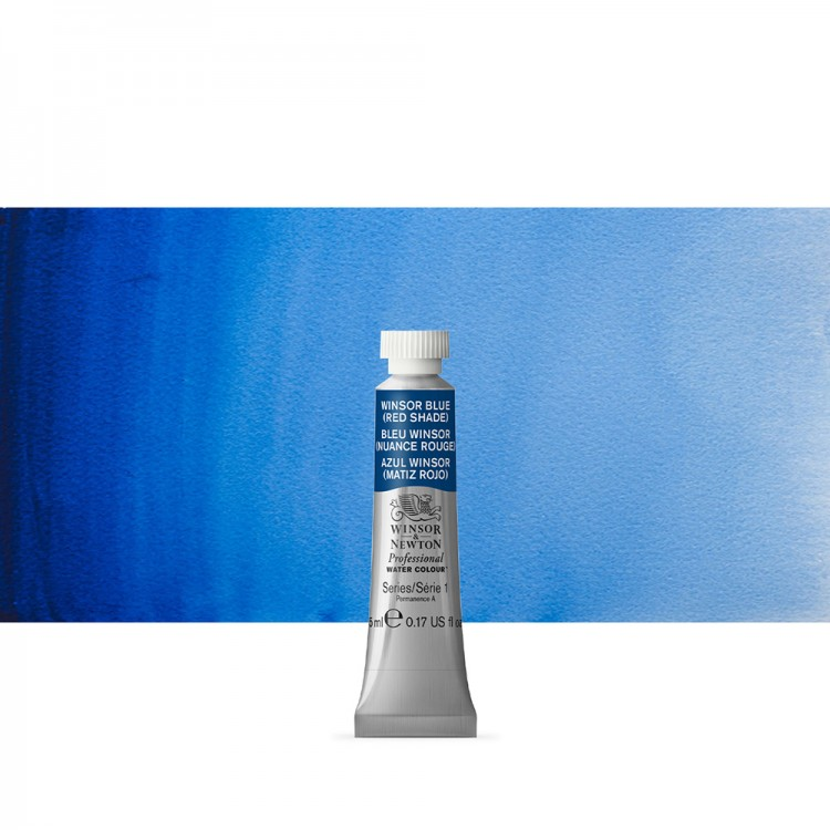 Winsor & Newton : Professional Watercolour Paint : 5ml : Winsor Blue (Red Shade)