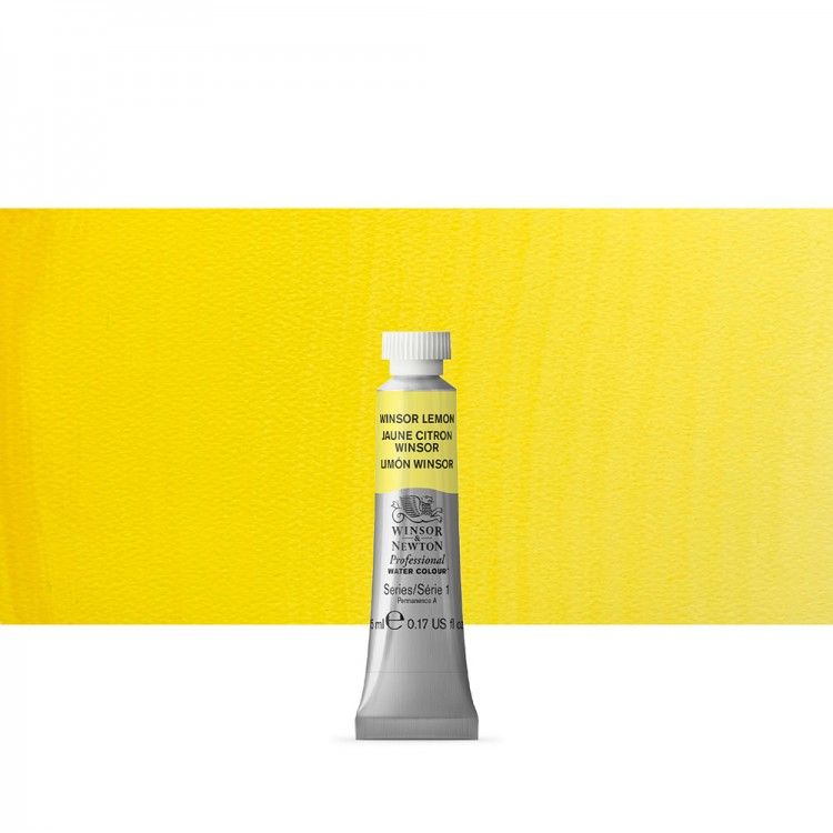 Winsor & Newton : Professional Watercolour : 5ml : Winsor Lemon