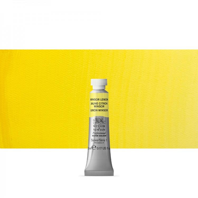 Winsor & Newton : Professional Watercolour : 5ml : Winsor Lemon