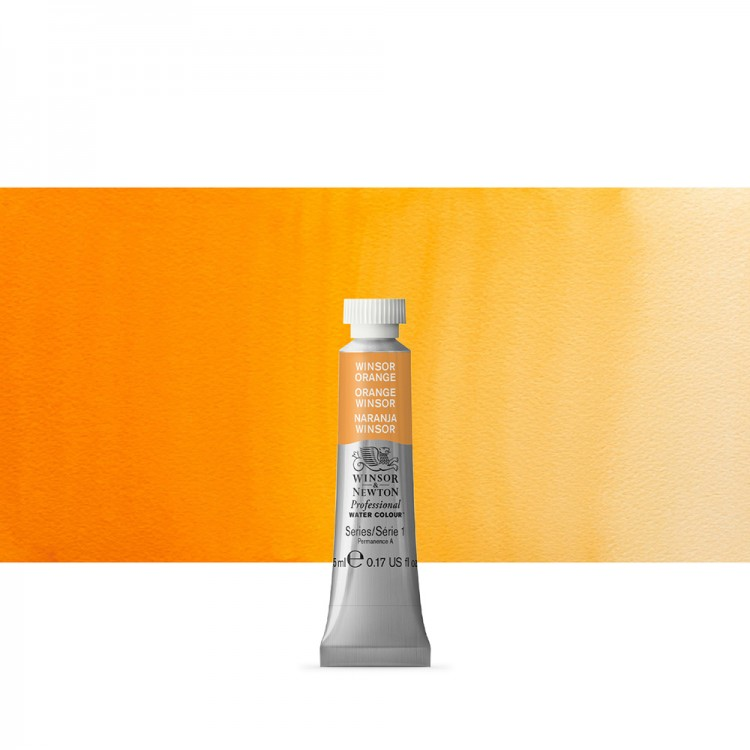 Winsor & Newton : Professional Watercolour Paint : 5ml : Winsor Orange