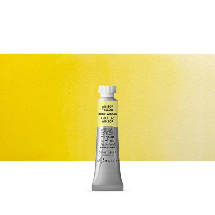 Winsor & Newton : Professional Watercolour Paint : 5ml : Winsor Yellow