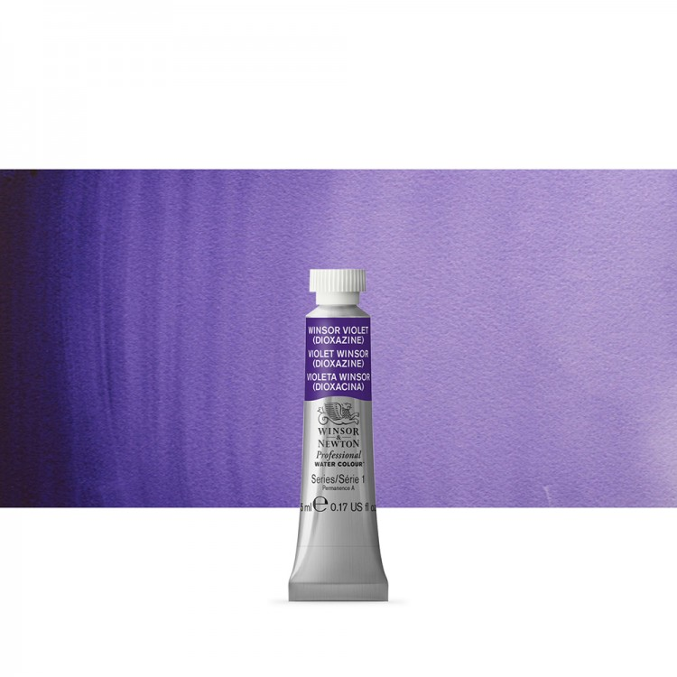 Winsor & Newton : Professional Watercolour Paint : 5ml : Winsor Violet