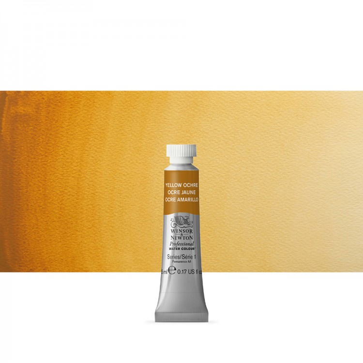 Winsor & Newton : Professional Watercolour Paint : 5ml : Yellow Ochre