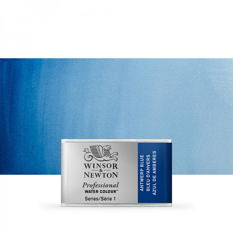 Winsor & Newton : Professional Watercolour Paint : Full Pan : Antwerp Blue