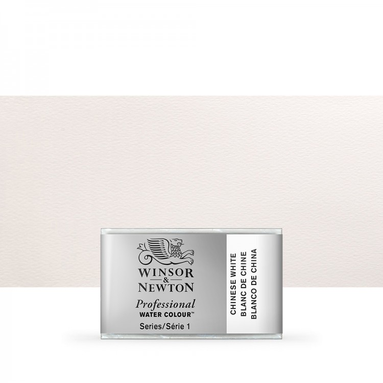 Winsor & Newton : Professional Watercolour Paint : Full Pan : Chinese White