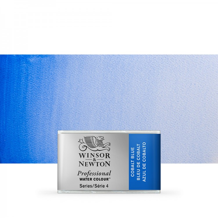 Winsor & Newton : Professional Watercolour Paint : Full Pan : Cobalt Blue