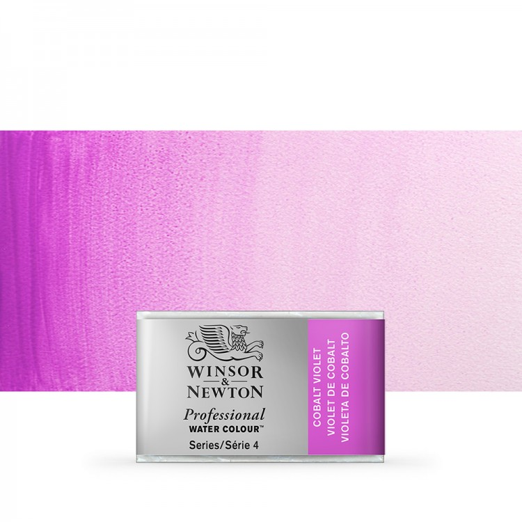 Winsor & Newton : Professional Watercolour Paint : Full Pan : Cobalt Violet