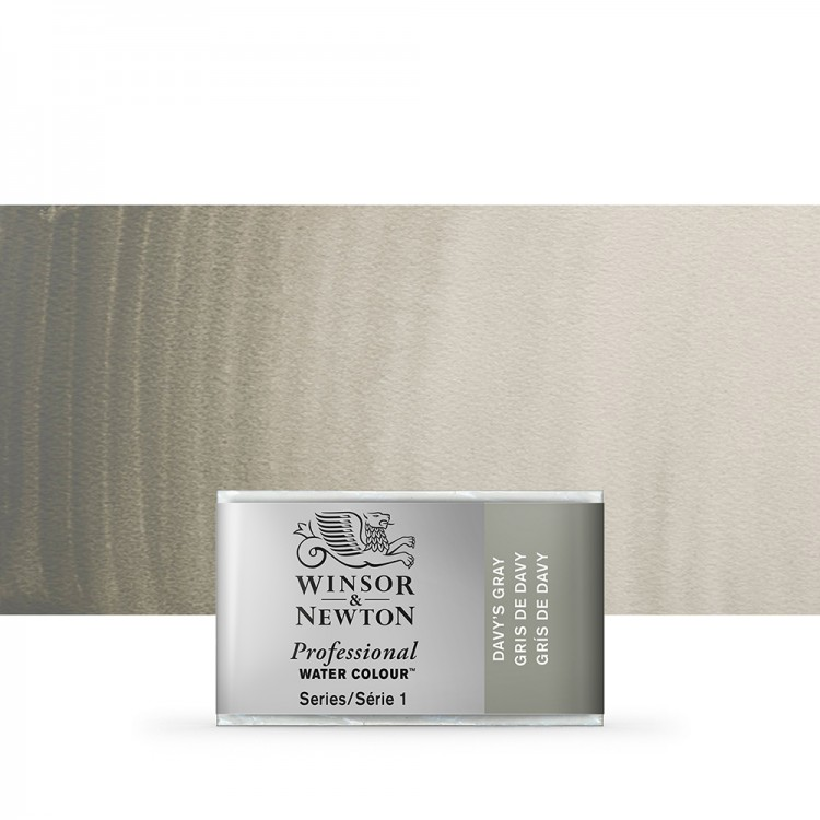 Winsor & Newton : Professional Watercolour Paint : Full Pan : Davys Grey