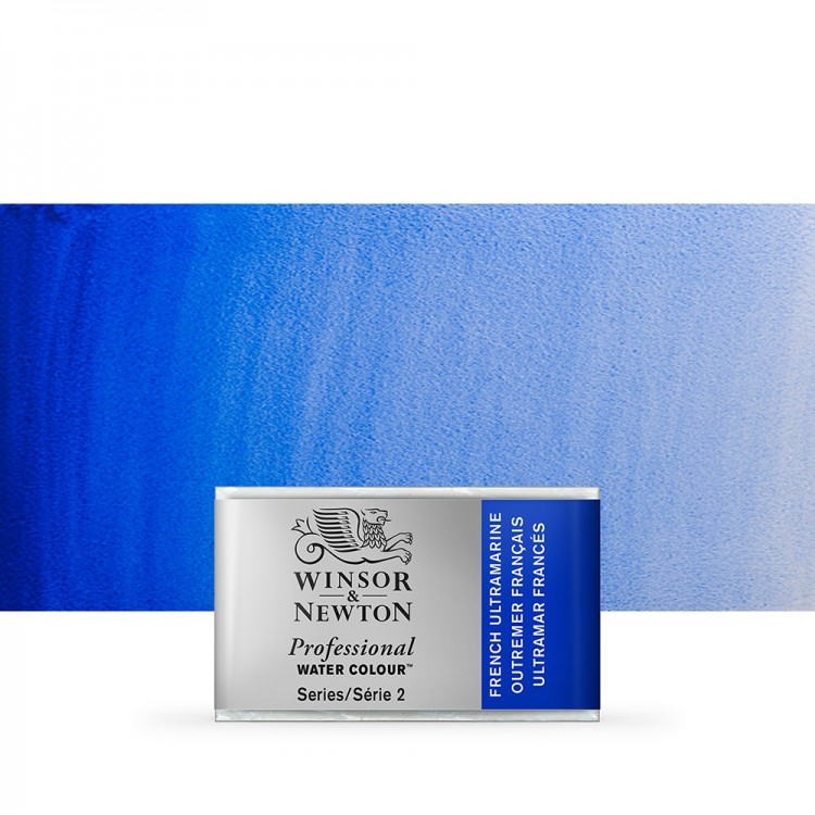 Winsor & Newton : Professional Watercolour Paint : Full Pan : French Ultramarine