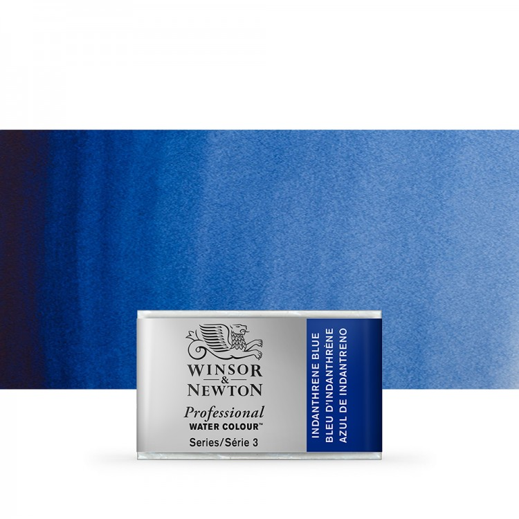 Winsor & Newton : Professional Watercolour Paint : Full Pan : Indanthrene Blue