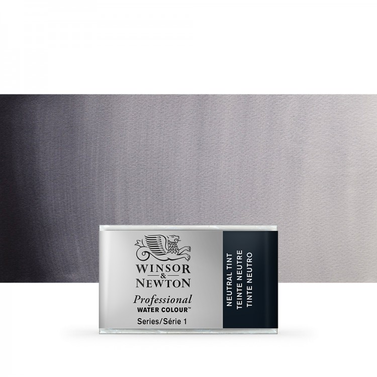 Winsor & Newton : Professional Watercolour Paint : Full Pan : Neutral Tint