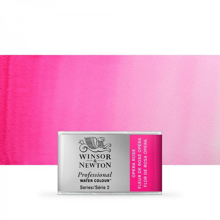 Winsor & Newton : Professional Watercolour Paint : Full Pan : Opera Rose