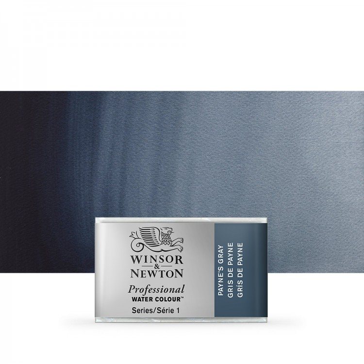 Winsor & Newton : Professional Watercolour Paint : Full Pan : Paynes Grey