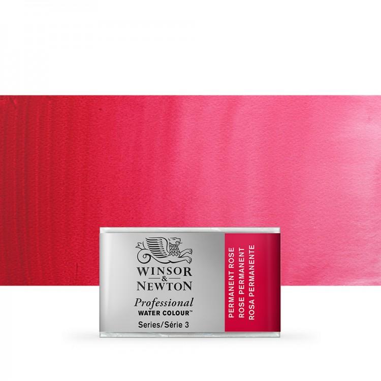 Winsor & Newton : Professional Watercolour Paint : Full Pan : Permanent Rose