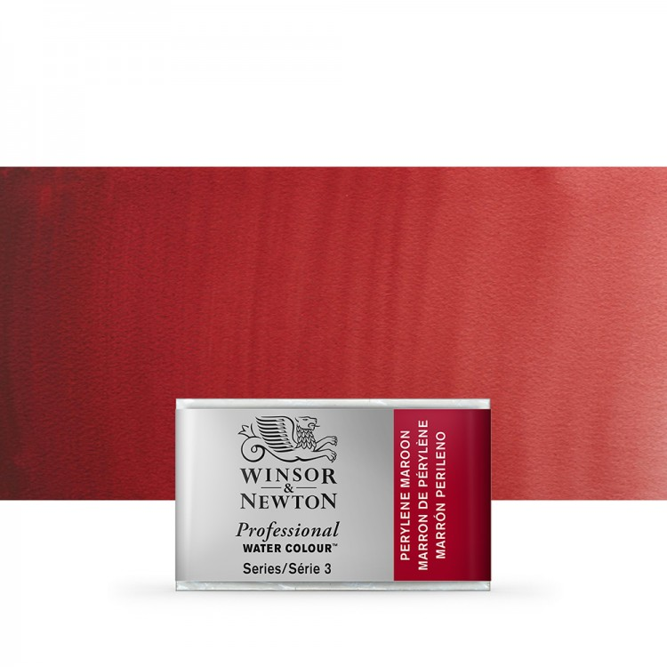 Winsor & Newton : Professional Watercolour Paint : Full Pan : Perylene Maroon