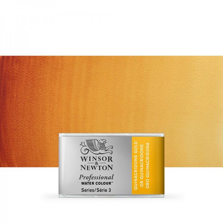 Winsor & Newton : Professional Watercolour Paint : Full Pan : Quinacridone Gold