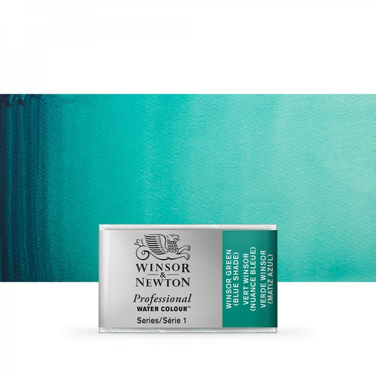 Winsor & Newton : Professional Watercolour Paint : Full Pan : Winsor Green (Blue Shade)