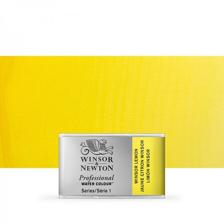 Winsor & Newton : Professional Watercolour Paint : Full Pan : Winsor Lemon
