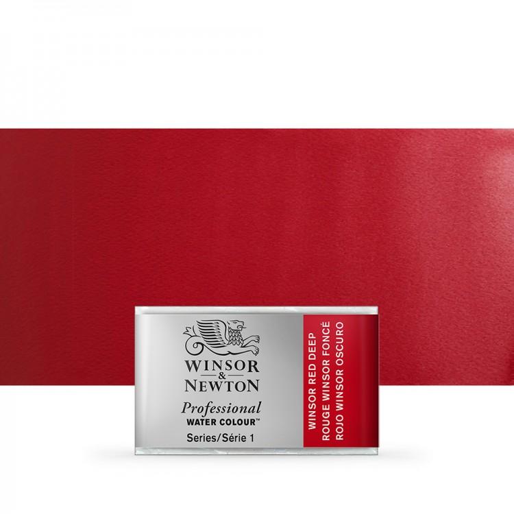 Winsor & Newton : Professional Watercolour Paint : Full Pan : Winsor Red Deep