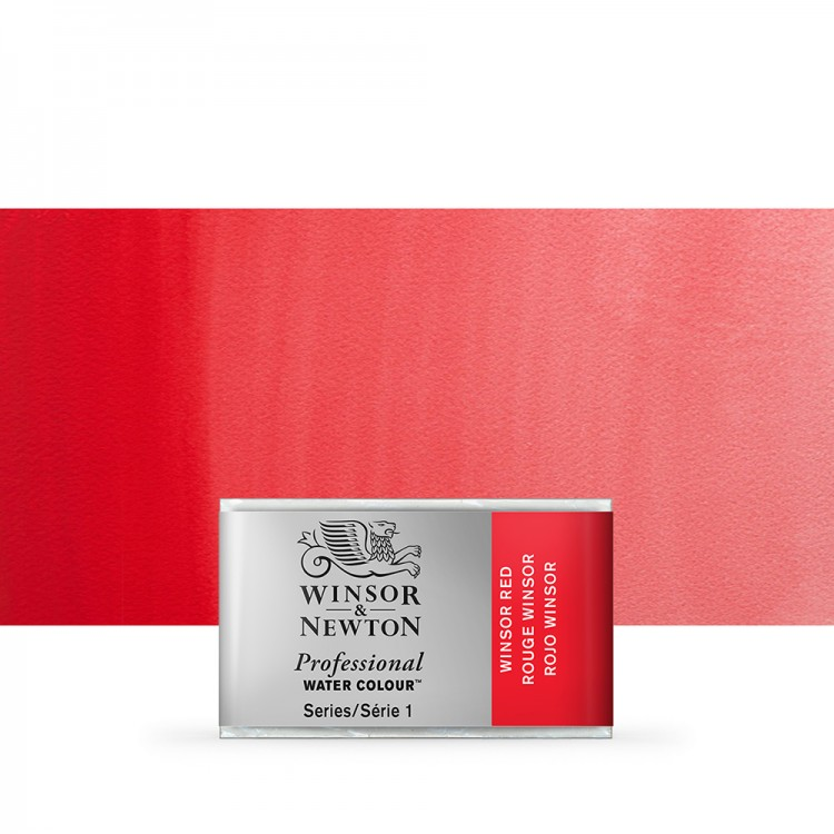 Winsor & Newton : Professional Watercolour Paint : Full Pan : Winsor Red