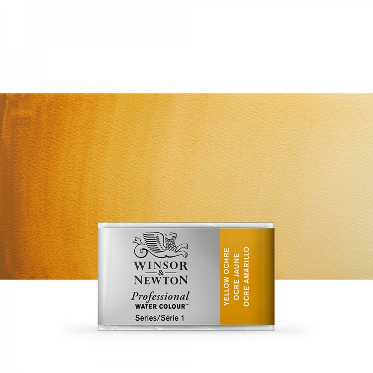 Winsor & Newton : Professional Watercolour Paint : Full Pan : Yellow Ochre