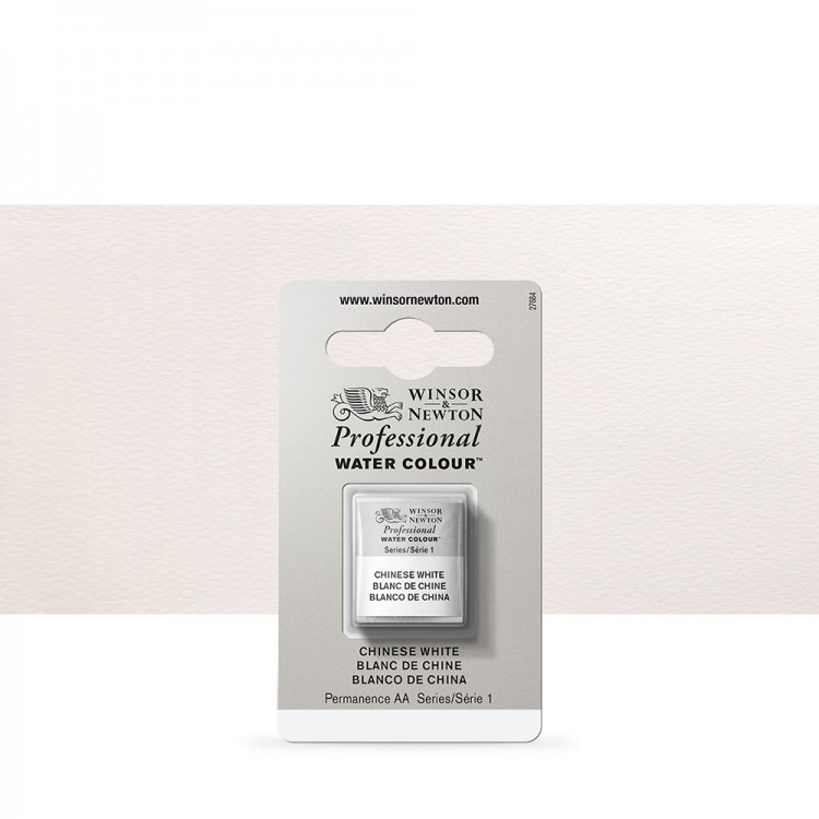 Winsor & Newton : Professional Watercolour Paint : Half Pan : Chinese White