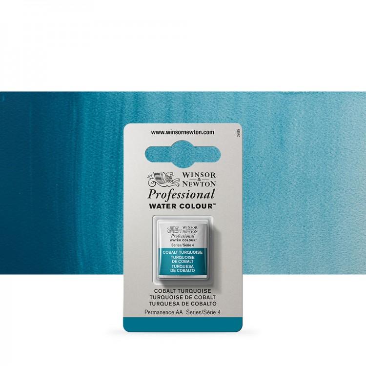 Winsor & Newton : Professional Watercolour Paint : Half Pan : Cobalt Turquoise